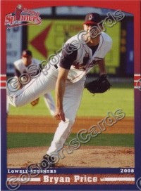 2008 Lowell Spinners Bryan Price