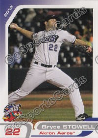 2012 Akron Aeros Bryce Stowell