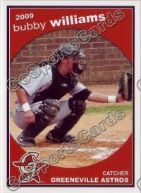 2009 Greeneville Astros Bubby Williams