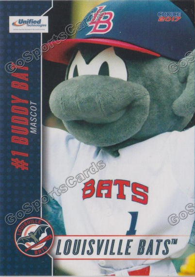 2017 Louisville Bats Buddy Bat Mascot