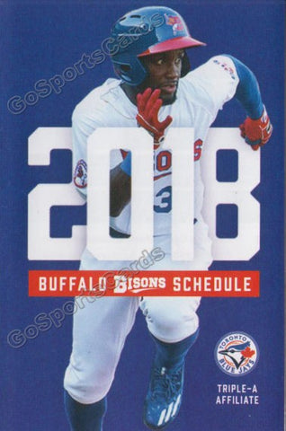 2018 Buffalo Bisons Pocket Schedule (Anthony Alford)