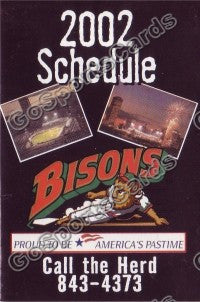 2002 Buffalo Bisons Pocket Schedule