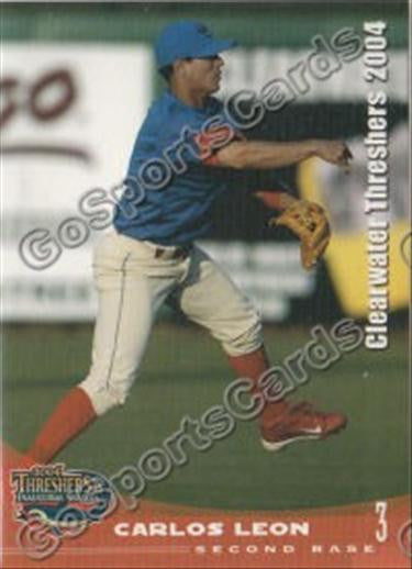 2004 Clearwater Threshers Carlos Leon