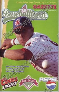 Carlos Leon 2006 Reading Phillies Gazette Program (SGA)