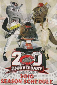 2010 Carolina Mudcats Pocket Schedule