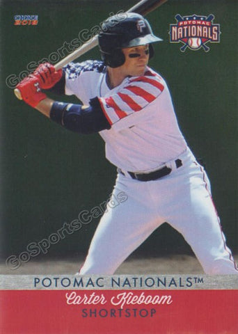 2018 Potomac Nationals Carter Kieboom