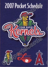 2007 Cedar Rapids Kernels Pocket Schedule