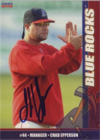 Chad Epperson 2006 Choice Wilmington Blue Rocks (Autograph)