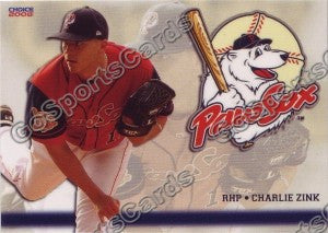 2008 Pawtucket Red Sox Charlie Zink