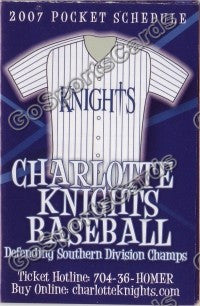 2007 Charlotte Knights Pocket Schedule