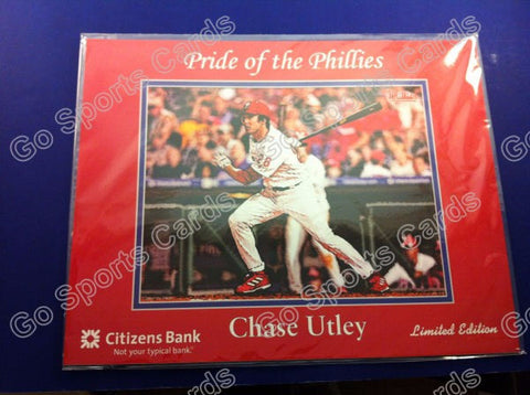 Chase Utley 2004 Philadelphia Phillies SGA Lithograph Photo