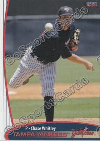 2011 Tampa Yankees Chase Whitley