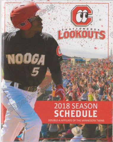 2018 Chattanooga Lookouts Pocket Schedule (Nick Gordon)