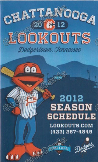 2012 Chattanooga Lookouts Pocket Schedule