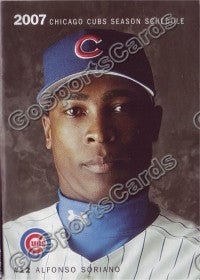 2007 Chicago Cubs Soriano Pocket Schedule