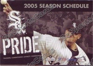 2005 Chicago White Sox Buhrle Pocket Schedule