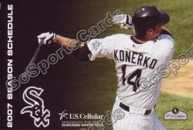 2007 Chicago White Sox Pocket Schedule (Paul Konerko)