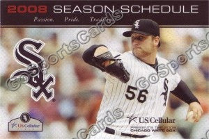 2008 Chicago White Sox Buhrle Pocket Schedule