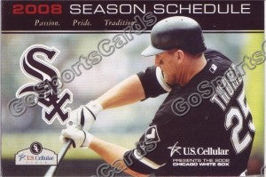 2008 Chicago White Sox Thome Pocket Schedule