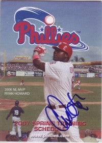 Chris Coste 2007 Phillies Spring Training Pocket Schedule (Autograph)