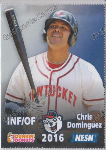 2016 Pawtucket Red Sox SGA Dunkin Donuts Chris Dominguez