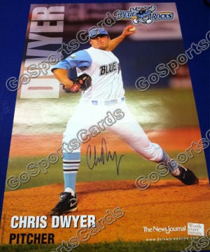 Chris Dwyer 2010 Wilmington Blue Rocks SGA Autographed Poster