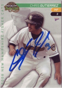 Chris Gutierrez 2008 New Hampshire Fisher Cats (Autograph)