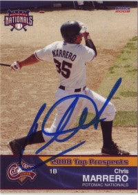 Chris Marrero 2008 Carolina League Top Prospect (Autograph)