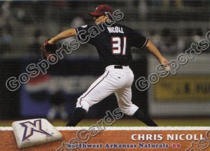 2009 Northwest Arkansas Naturals Chris Nicoll