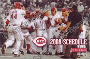 2008 Cincinnati Reds Pocket Schedule