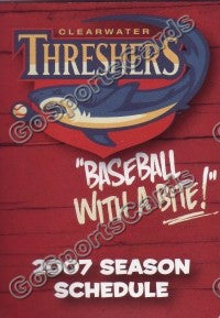 2007 Clearwater Threshers Pocket Schedule