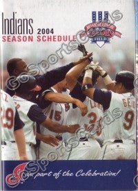 2004 Cleveland Indians Pocket Schedule