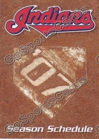 2007 Cleveland Indians Early Bird Pocket Schedule
