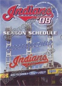 2008 Cleveland Indians B Pocket Schedule