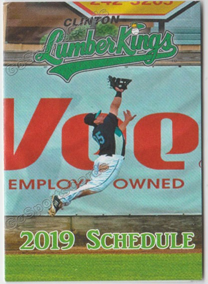 2019 Clinton LumberKings Pocket Schedule