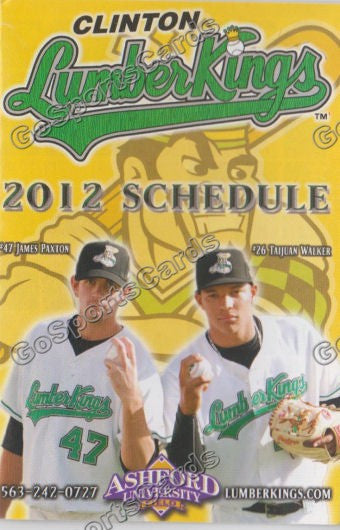 2011 Clinton Lumberkings Pocket Schedule (James Paxton, Taijuan Walker)