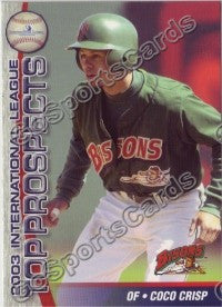 2003 International League Top Prospects Choice Coco Crisp