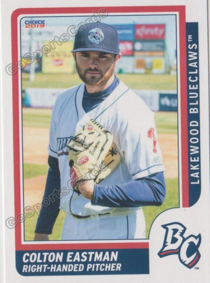 2019 Lakewood BlueClaws Colton Eastman