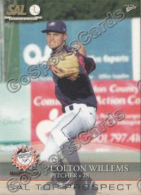2008 South Atlantic League Top Prospects Colton Willems