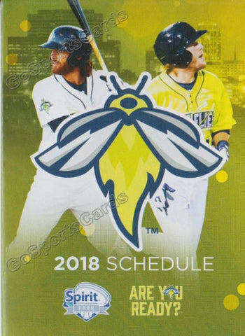 2018 Columbia Fireflies Pocket Schedule (Dash Winningham Gene Cone)