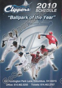 2010 Columbus Clippers Pocket Schedule (Flat)