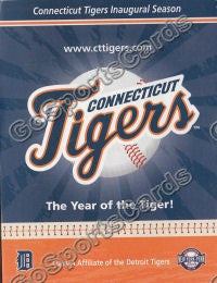2010 Connecticut Tigers Pocket Schedule