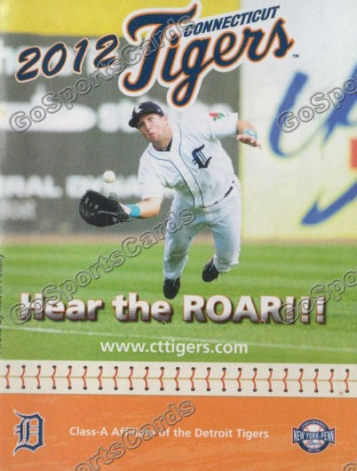 2012 Connecticut Tigers Pocket Schedule