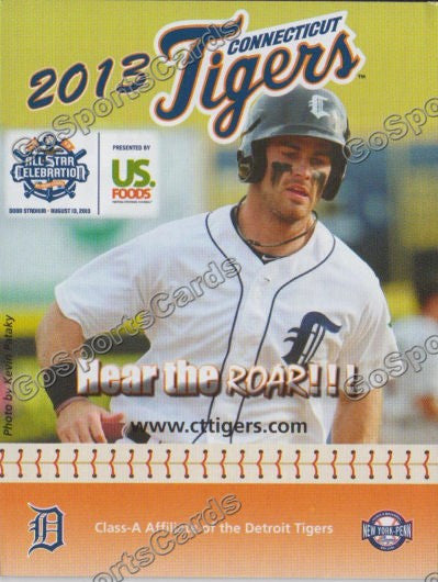 2013 Connecticut Tigers Pocket Schedule (Jeff McVaney)