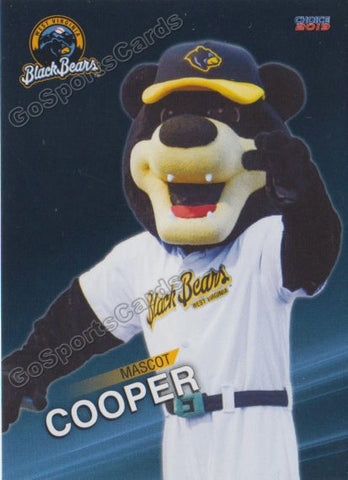 2019 West Virginia Black Bears Cooper Mascot