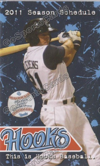 2011 Corpus Christi Hooks Pocket Schedule (Koby Clemens)