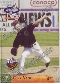 2003 Pacific Coast League All-Star Multi-Ad Cory Vance