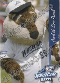 2011 West Michigan Whitecaps Crash the River Rascal Mascot