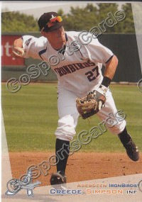 2012 Aberdeen Ironbirds Creede Simpson