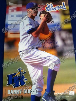 Danny Duffy 2009 Wilmington Blue Rocks SGA Autographed Poster